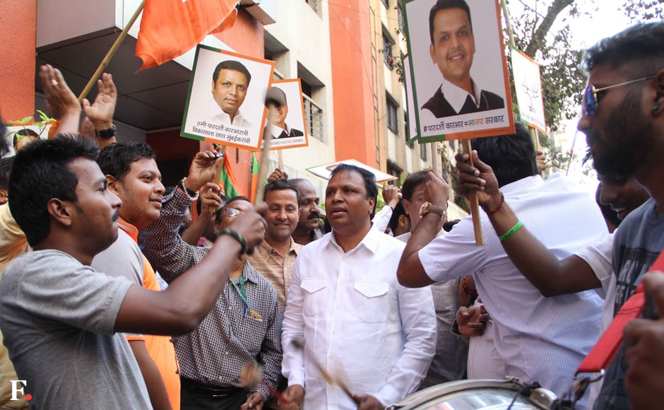 Shelar who is an MLA from Bandra West constituency, was confident of BJP victory. Sachin Gokhale/Firstpost