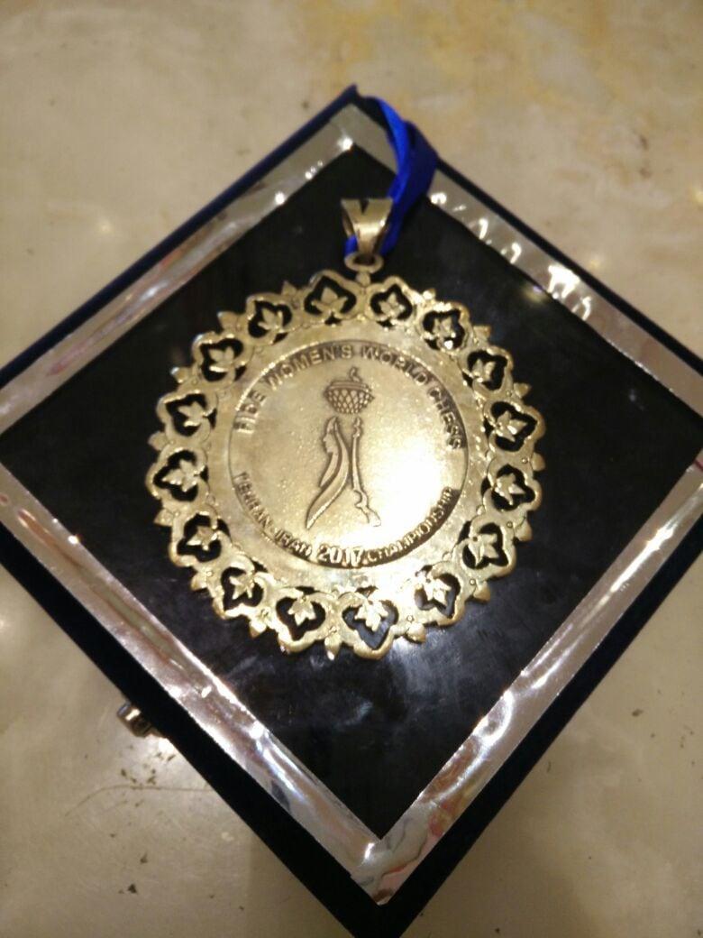 The World Women's Chess Championship bronze medal won by Harika.