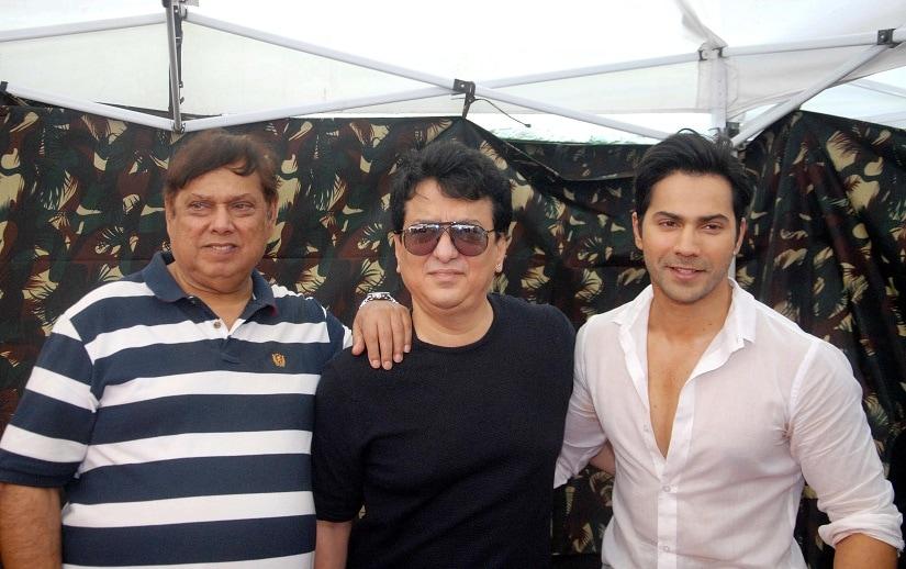 Bollywood filmmakers David Dhawan, Sajid Nadiadwala and actor Varun Dhawan during the announcement of up coming film Judwaa 2 in Mumbai, India on February 6, 2017. (Nitin Lawate/ SOLARIS IMAGES)