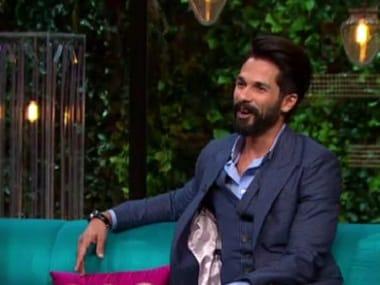 Shahid Kapoor on Koffee with Karan Season 5. Hotstar