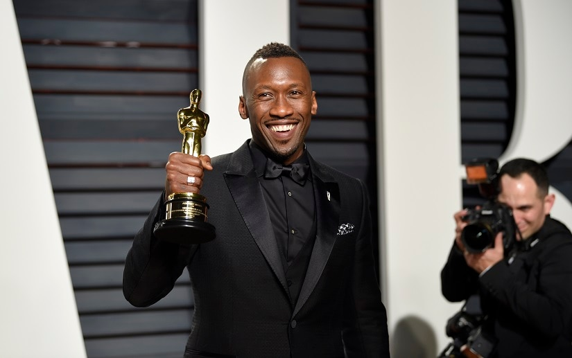 Mahershala Ali arrives at the Vanity Fair Oscar Party on Monday, Feb. 27, 2017, in Beverly Hills, Calif. (Photo by Evan Agostini/Invision/AP)