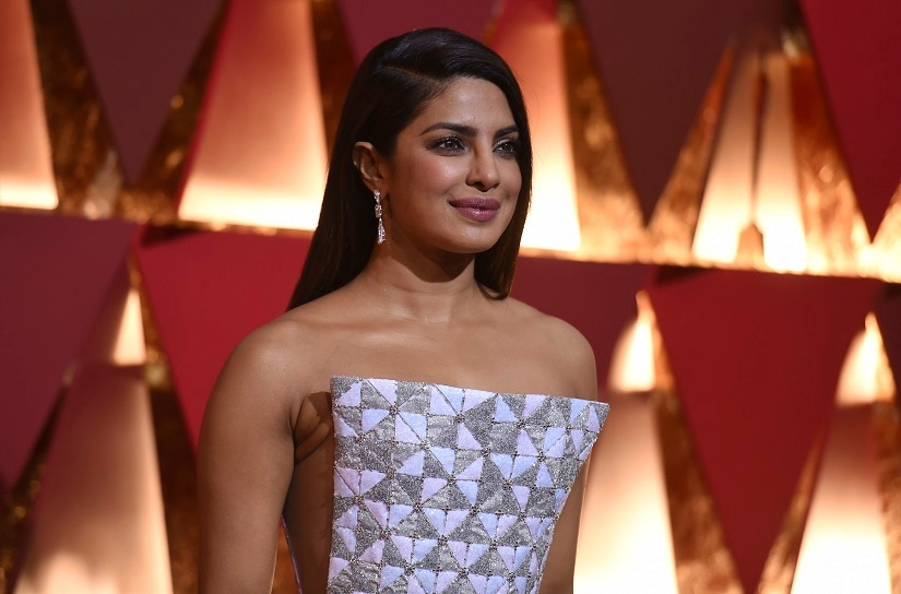 Priyanka Chopra arrives at the Oscars on Sunday, Feb. 26, 2017, at the Dolby Theatre in Los Angeles. (Photo by Richard Shotwell/Invision/AP)