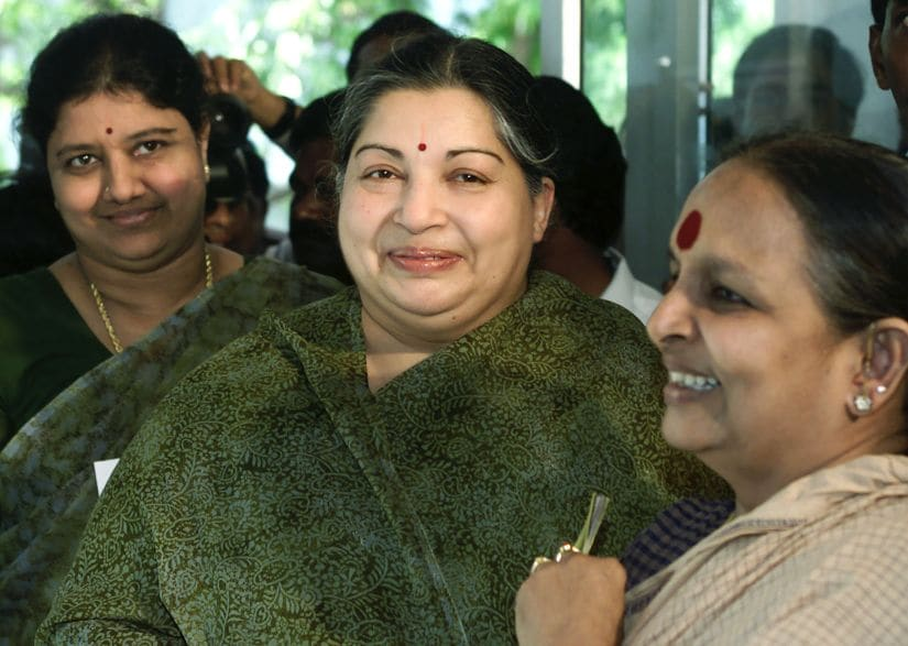 A file photo of Jayalalithaa and her aide Sasikala. Reuters