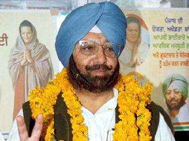 Congress Party State President, Captain Amarinder Singh. PTI