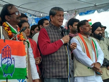 Harish Rawat at a rally in Uttarakhand. Image courtesy: Twitter/@HarishRawatCMUK