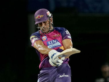 MS Dhoni in action for Rising Pune Supergiants. IPL/Sportzpics