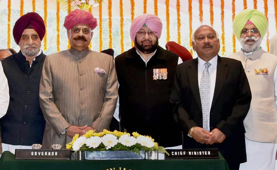 Cricketer-turned politician Navjot Singh Sidhu was also sworn-in as a cabinet minister of Punjab. PTI