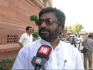 Shiv Sena MP Ravindra Gaikwad. CNN-News18
