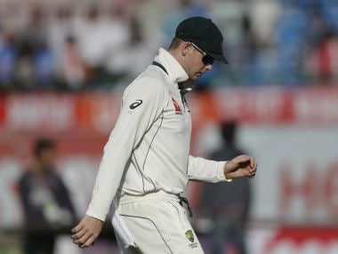 Australia's captain Steven Smith during the fourth Test match against India in Dharmsala. AP