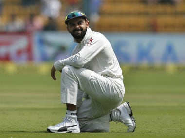 Virat Kohli managed a total of 46 runs from five innings in the entire series. AP