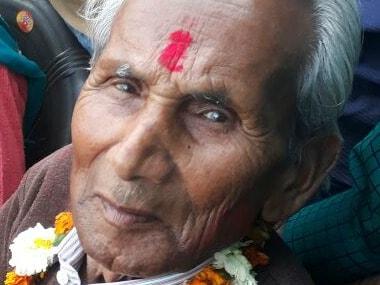 Yogi Adityanath's father Aanand Singh Bisht. Namita Singh