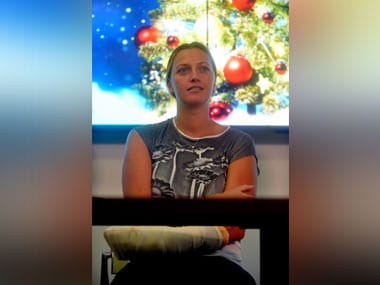Petra Kvitova has started to use her hand in daily life, said her entourage. AFP