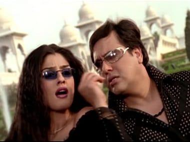 Raveena Tandon and Govinda in a still from 'Akhiyon se Goli Mare'. YouTube