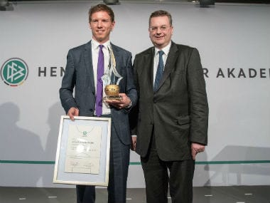 Hoffenheim coach Julain Nagelsmann wins Germany's coach of the year. Twitter: @TSGHoffenheim