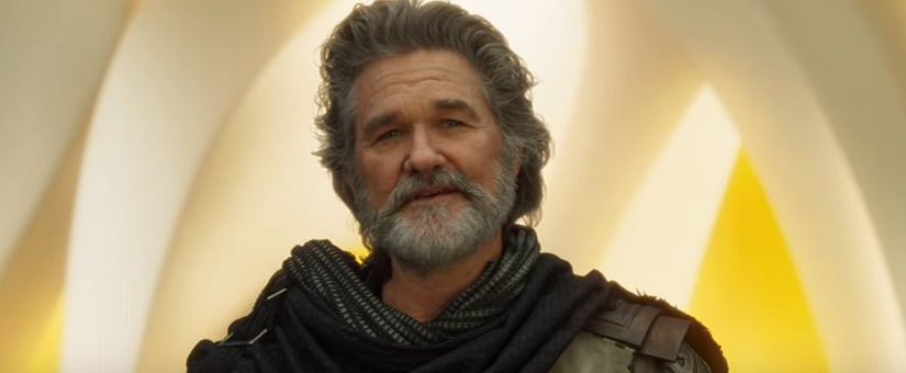 Kurt Russel plays Star Lord's father in the sequel