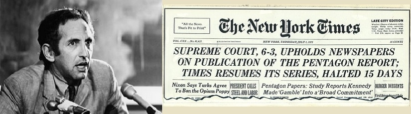 Daniel Ellsberg and The New York Times. Image courtesy: Twitter/collage
