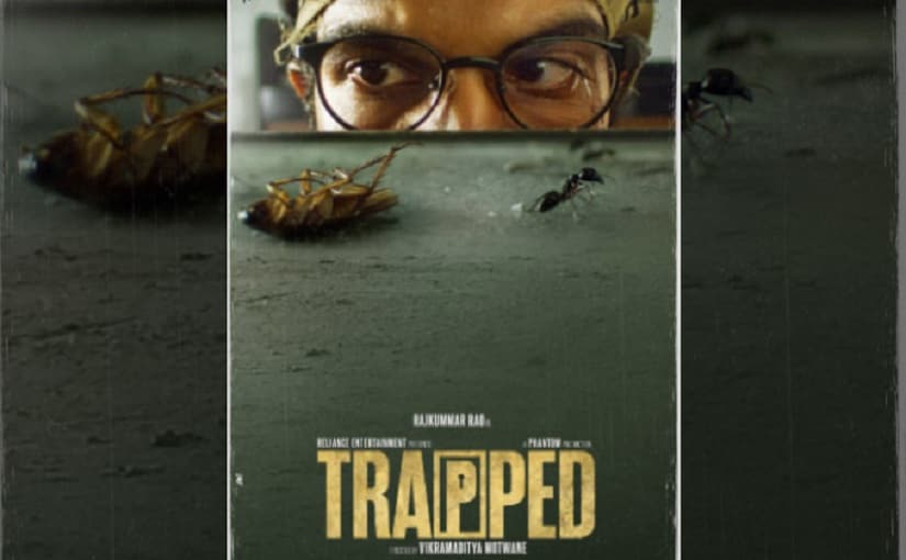 Poster of Rajkummar Rao's Trapped.