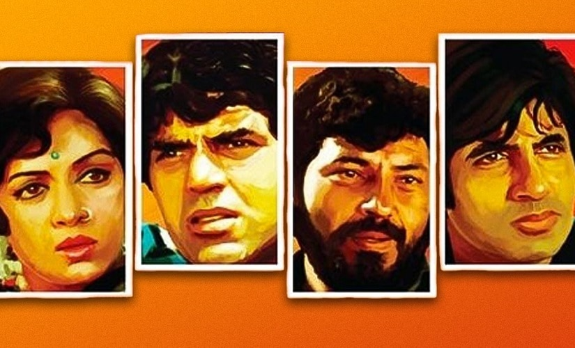 The cast of Sholay. Image from Facebook