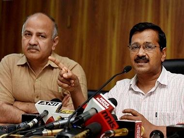 File image of Arvind Kejriwal and Manish Sisodia. PTI
