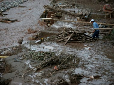 Over 200 people were killed after mudslides in Colombia. AFP