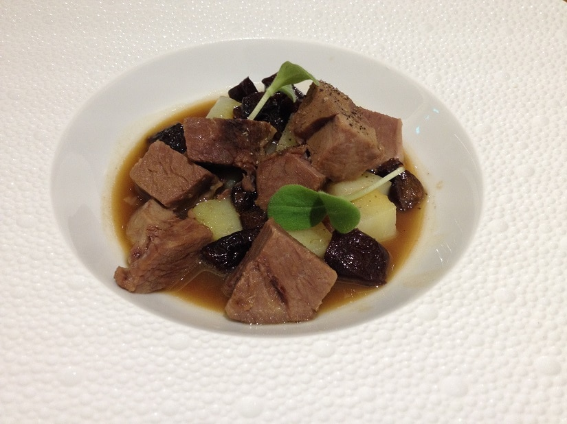 Lamb poached with plums at Innocenti Evasioni