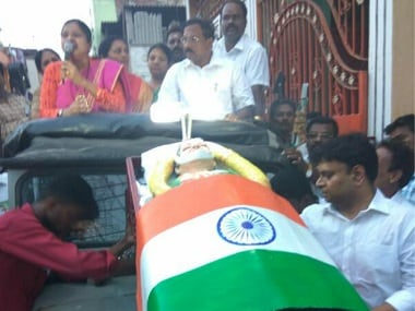 AIADMK's O Panneerselvam held a rally with a statue that looked like Jayalalithaa's corpse.
