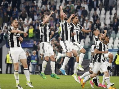 Juventus put up a stellar performance to stun Barcelona in Turin. AP