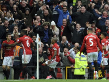 Manchester United's Ander Herrera scored the second goal to hand Spurs a lifeline. AFP