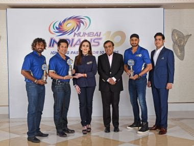Sachin Tendulkar, Harbhajan Singh and Lasith Malinga were felicitated at the event. Image courtesy: Mumbai Indians