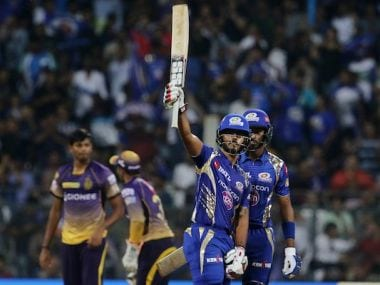 Nitish Rana played an important role for Mumbai Indians against KKR. Twitter/ @IPL