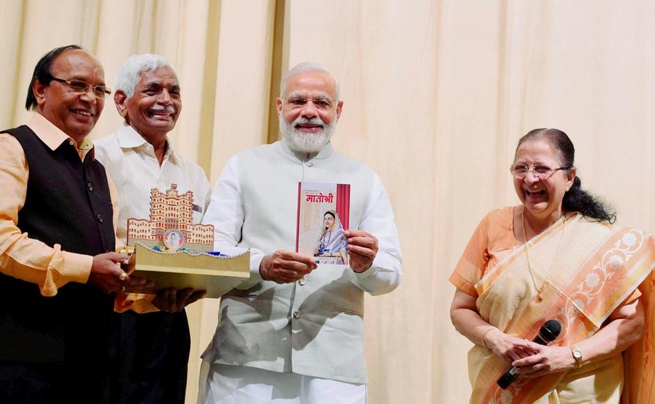 Prime Minister Narendra Modi releases the book