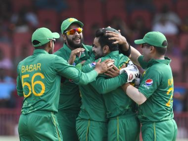 Pakistan's Hasan Ali grabbed a five-for in the win over West Indies. AFP