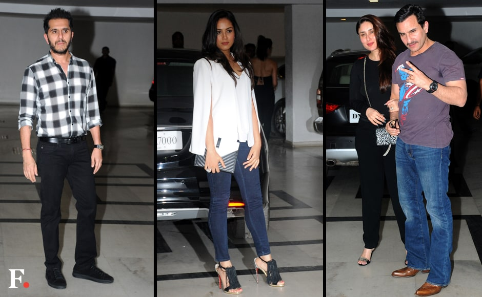 Ritesh Sidhwani, Mira Rajput, Kareena Kapoor and Saif Ali Khan. Sachin Gokhale/Firstpost