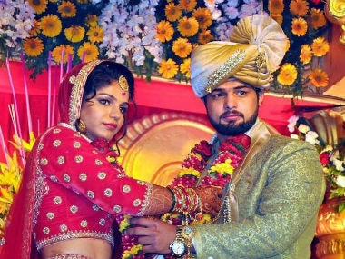 Sakshi Malik ties the knot with wrestler Satyawart Kadian in Rohtak. PTI
