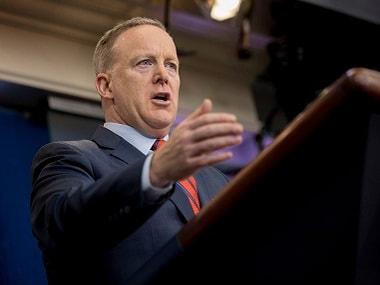 White House press secretary Sean Spicer. AP