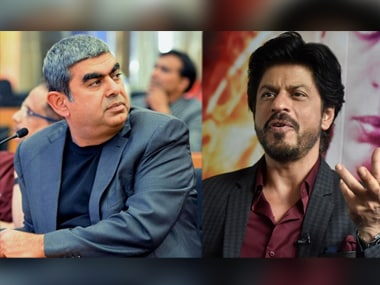 Vishal Sikka, CEO, Infosys; Shah Rukh Khan, co-founder, Red Chillies Entertainment