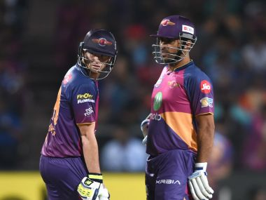 Steve Smith (L) and MS Dhoni. AFP