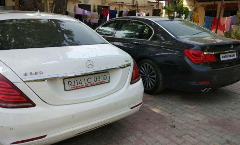 The luxury cars seized from Sukesh Chandrashekhar by the Delhi Police. Image courtesy: CNN-News18