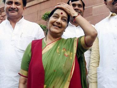 File image of SushmaSwaraj. PTI