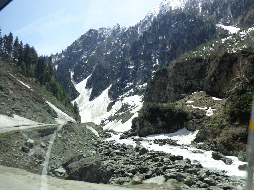 The snow at Sonamarg