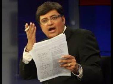 Television journalist Arnab Goswami.