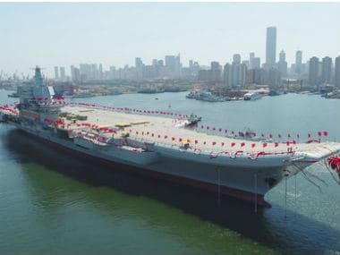 File image of China's first domestically built aircraft carrier. AP
