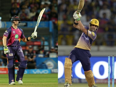 Pune, led by Steve Smith (L) will be hosting Gautam Gambhir's KKR. Sportzpics