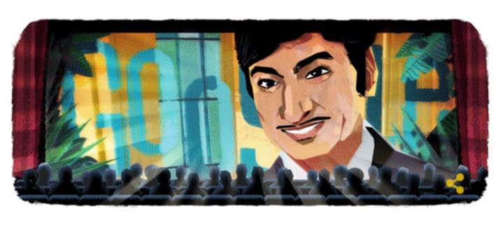 Google doodle celebrating 88th birthday of Karnataka superstar Rajkumar