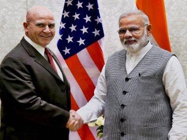 Prime Minister Narendra Modi with US NSA HR McMaster. PTI