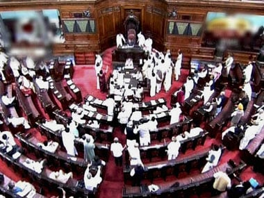 Screenshot of Rajya Sabha. PTI
