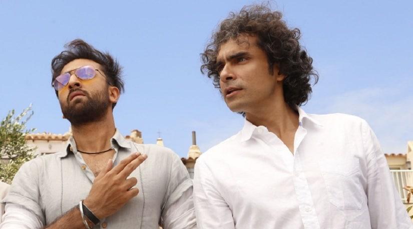 Ranbir Kapoor along with Imtiaz Ali while shooting for Tamasha. File image