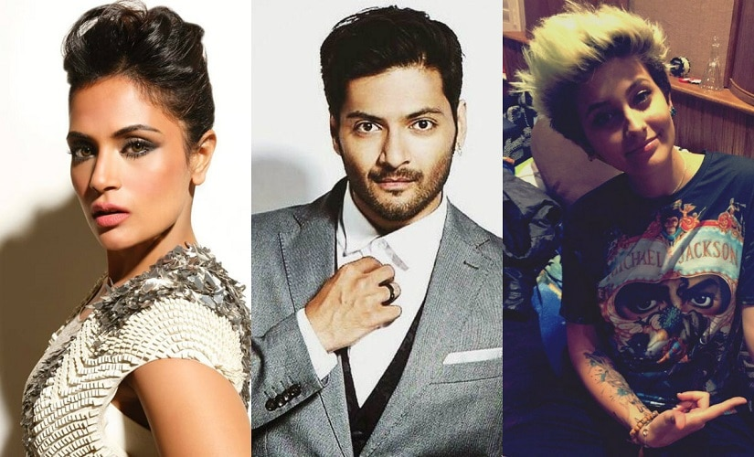Richa Chadha, Ali Fazal and Paris Jackson. Images from Facebook and Twitter