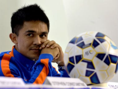 File image of Bengaluru FC captain Sunil Chhetri. AFP
