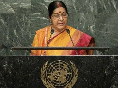 Union External Affairs Minister Sushma Swaraj. PTI